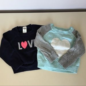 Set of 2 Carters Sweaters